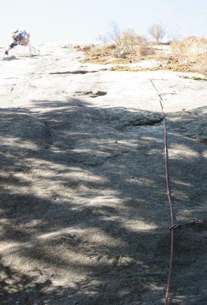 Rock Climbing Photo: Jeff at the anchors of Desperado