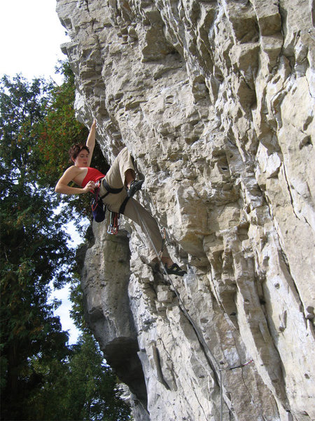 Rock Climbing Photo: Rebecca Lewis redpointing White Zombie.