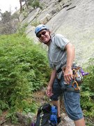 Rock Climbing Photo: At MacGregor Slab, Estes Park, psyched for first t...