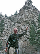 Rock Climbing Photo: Pointing to Roof on Skippin' Stones. Great rock, g...