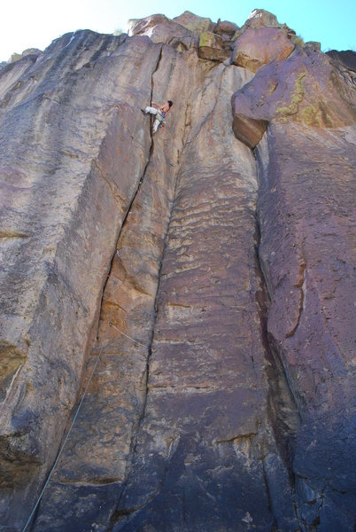 Rock Climbing Photo: Steve Laycock leads Kid In A Candy Store