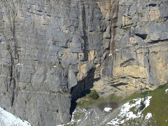 Rock Climbing Photo: Cheselenflue, with the meteorit sector on the left...