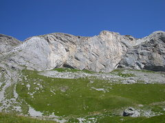 Rock Climbing Photo: View of a part of Sanetsch from the road.  The Orp...
