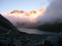 Rock Climbing Photo: Views over the Sanetsch reservoir from the camping...