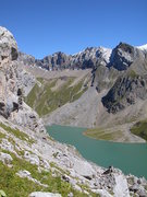 Rock Climbing Photo: The Sanetsch reservoir