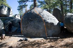 Rock Climbing Photo: Off Road Boulder, East Face Topo