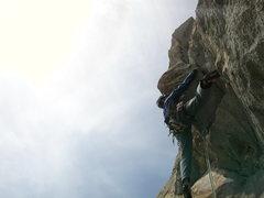 Rock Climbing Photo: Pitch 5: Mathijs K firing through the crux.