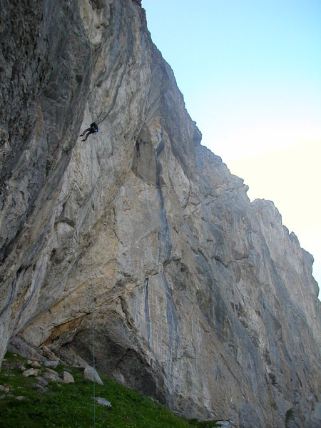 Rock Climbing Photo: Abseiling off of Grand Final, Sanetsch.