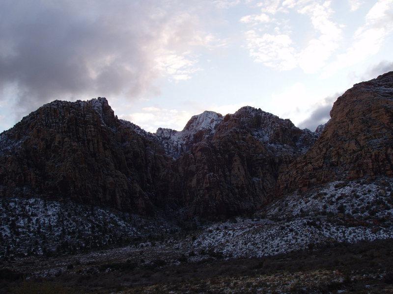 Icebox Canyon, winter