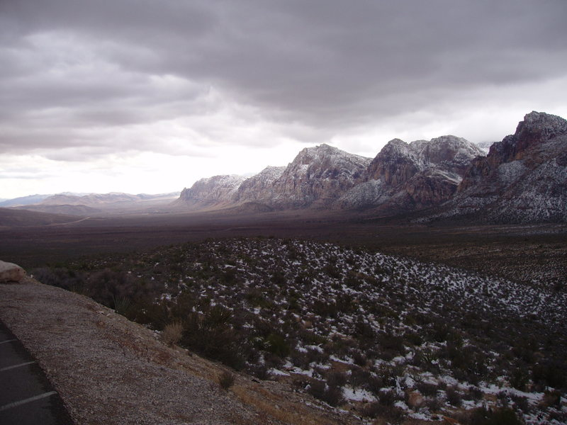 Rock Climbing Photo: Red Rock escarpment, looking south