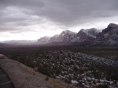 Rock Climbing Photo: Red Rock escarpment, looking south