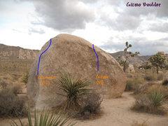 Rock Climbing Photo: Gizmo (V1), Joshua Tree NP