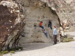 Rock Climbing Photo: kids on the cow