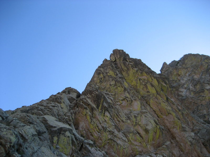 View of the NW ridge from the approach. This was taken near the confluence with Dark Canyon.
