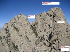 Rock Climbing Photo: Little Squaretop South ridge Viewed from Organ Nee...