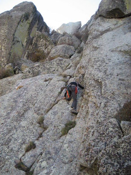 Rock Climbing Photo: Josie Jones on the last 150 ft to the summit. The ...