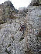 Rock Climbing Photo: Josie Jones on the last 150 ft to the summit. The ...