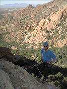 Rock Climbing Photo: Warpaint gets morning shade.  Mark is at bolted an...