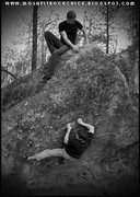 Rock Climbing Photo: Curtis & Sean working an low ball at McLellan. Pro...