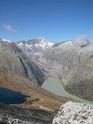 Rock Climbing Photo: Eldorado, with the Unteraar glacier in the backgro...