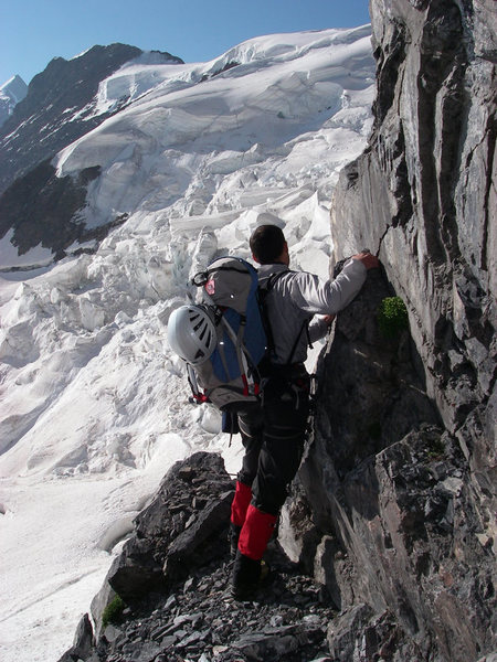Rock Climbing Photo: Forest Dramis after stepping out of the tunnel on ...