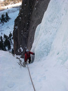 Rock Climbing Photo: Hans Johnstone following p 2 of the Ice Hose