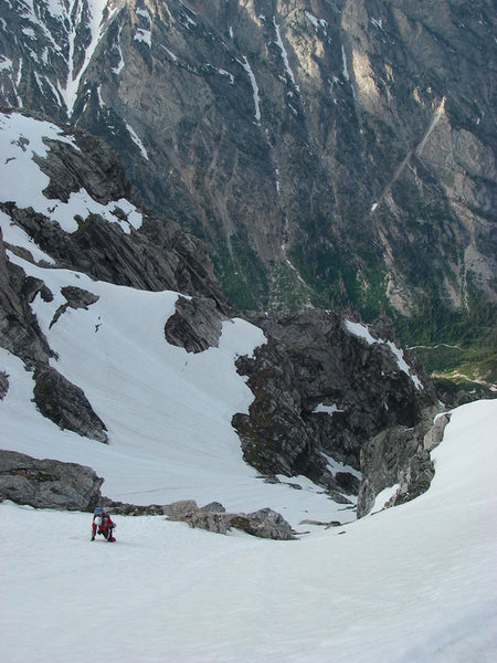 Rock Climbing Photo: Forest high  on the N.E. Snowfields of Mt. Owen.