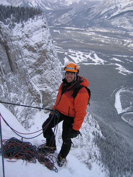 Topped out on the Terminator, Banff.