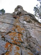 Rock Climbing Photo: Looking up from the base. Route is slightly overhu...