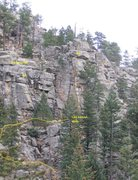 Rock Climbing Photo: Location of Lost In A Lost World and Joe the Lunge...