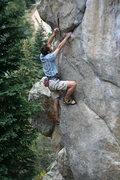Rock Climbing Photo: Alpinist Gabe Neely tries his hand at sport climbi...