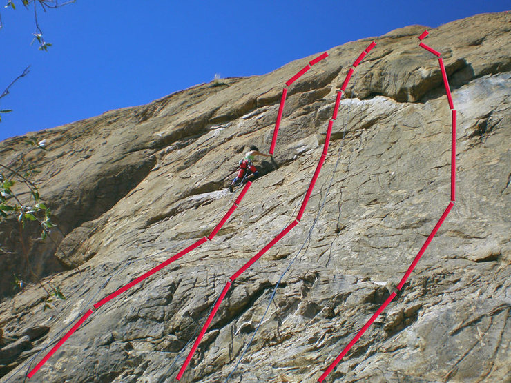 Rock Climbing Photo: Zappa Dome: (L-R) We're Only In It For the Money, ...