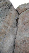 Rock Climbing Photo: John Parnigoni sending Wolf's Tooth in fine, seemi...