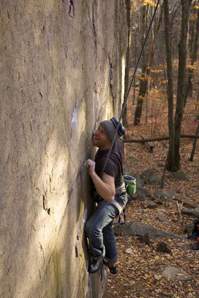 Rock Climbing Photo: Brendan on My Mind is Blank.