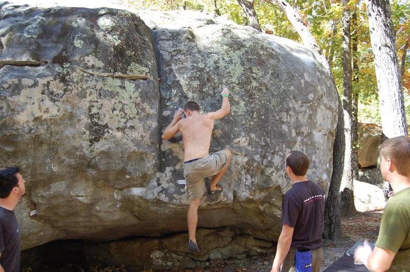 Rock Climbing Photo: Second move.