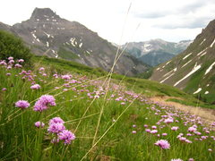 Rock Climbing Photo: Yankee Boy Basin San Juans  July 2008  A day witho...