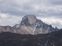 Rock Climbing Photo: West face of Long's from the summit of Otis, 11/08...