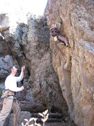 Rock Climbing Photo: Cody warming up on Garbageboy on a perfect day for...