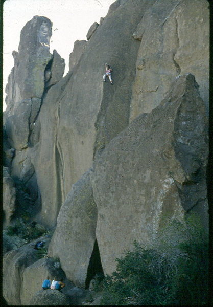 Kelly Bell on the 1st ascent of Zoner Highway