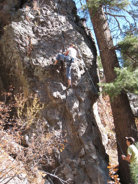 Rock Climbing Photo: Rachael just passed the crux on Court Jester. Nov....