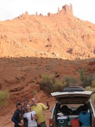 Rock Climbing Photo: Good times.  Matt, Rob, Joby and I having some pos...