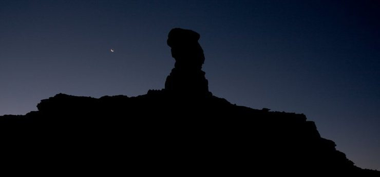 Rooster Butte before sunrise.<br> Photo: Dave Fiorucci