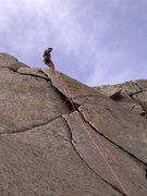 Rock Climbing Photo: Checking-out the upper section, yes you're going t...