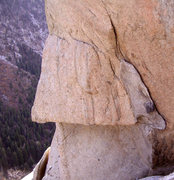 Rock Climbing Photo: The bolted traverse to the arete. Good holds but i...