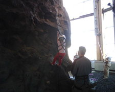Rock Climbing Photo: Learning to rappel