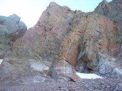 Rock Climbing Photo: Should we start climbing here.  North face of Mt. ...