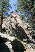 Rock Climbing Photo: Area 13 - Far Right End (West Face) Topo
