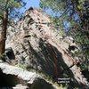 Area 13 - Far Right End (West Face) Topo