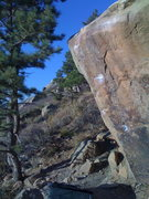Rock Climbing Photo: Just a pretty picture of the line on a nice late O...