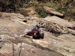 Rock Climbing Photo: Eldorado Canyon. Isaac Therneau on Bolting for Glo...
